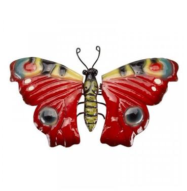 Metal Butterfly Wall Art - Hand Painted - Medium