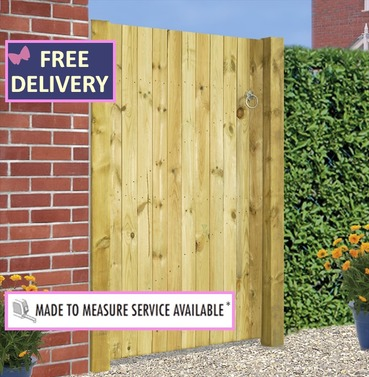 "Carlton Square Top Single Garden Gate 41"" Wide"