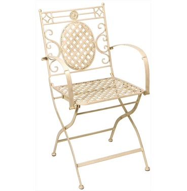 Cafe Cream Carver Chair - Distressed Cream