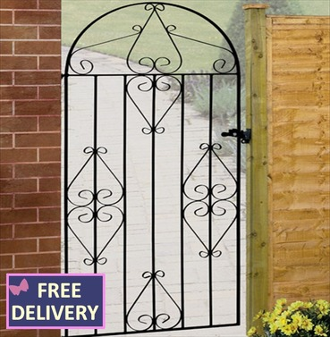 Classic Tall Bow Top Garden Gate
