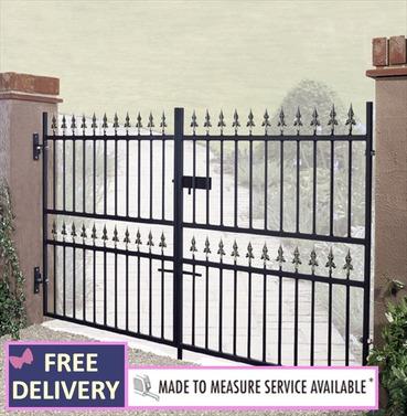 Corfe Metal Low Double Driveway Gates