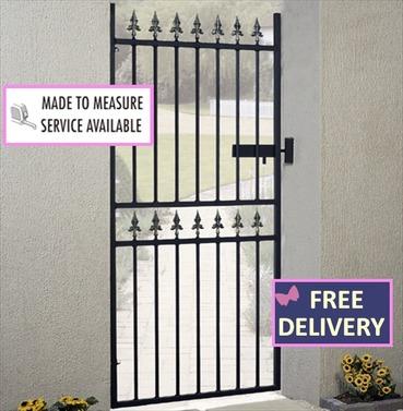 Corfe Tall Single Metal Garden Gates