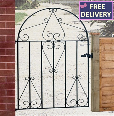 Classic Low Bow Top Metal Garden Gate