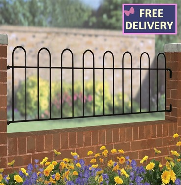 "Court Garden Railing - Steel Railing 19"" High"