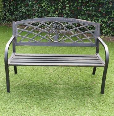 Garden Daffodil Metal Bench