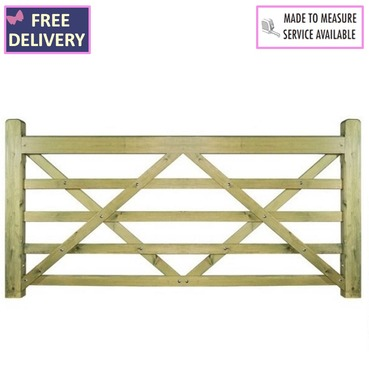 Evington Wooden Farm / Field 5 Bar Gate - 2400mm Wide