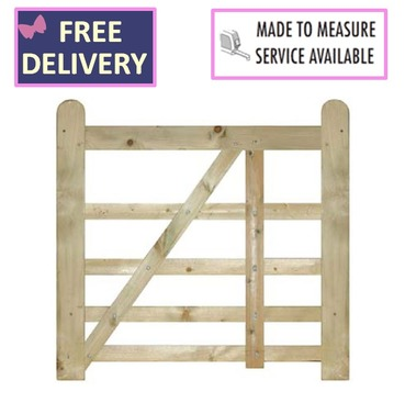 Evington Wooden Farm / Field 5 Bar Gate - 900mm Wide