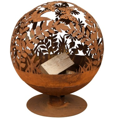 Fire Ball Globe Cast Iron - Laser Cut Meadow Design