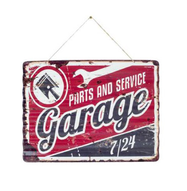 Garage Spare Parts Embossed Metal Sign