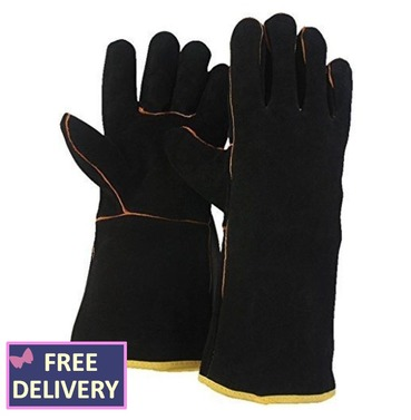 Gauntlet Tough Leather Gloves - Large