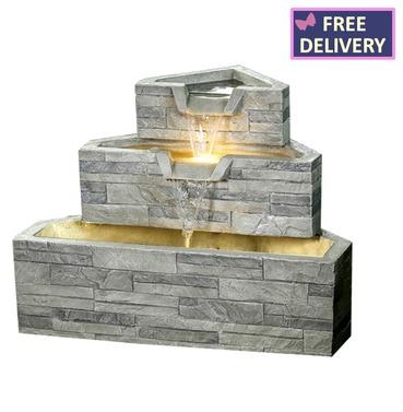 Brick 3 Tier Water Feature - Charles Bentley
