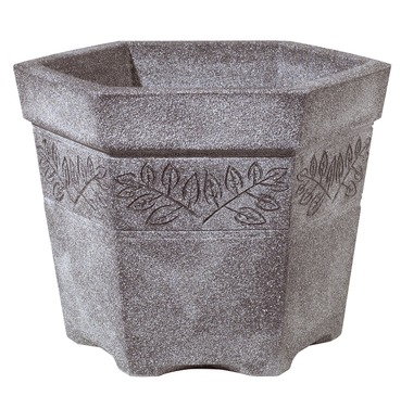 Sylvan Hexagonal Planter Granite - Lightweight
