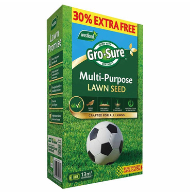 Gro-Sure Multi-Purpose Grass Lawn Seed - 10m2 + 30% Extra Free