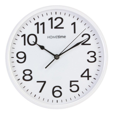 Classic White Indoor Wall Clock 25.5cm