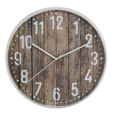 Indoor Wood Effect Clock 30.5cm