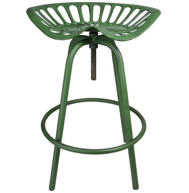 Tractor Seat - Aged Green - Bar Stool