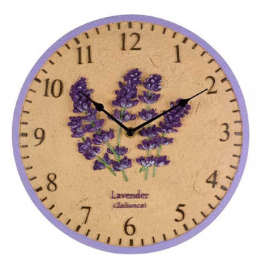 Lavender Garden Outdoor Wall Clock 12""