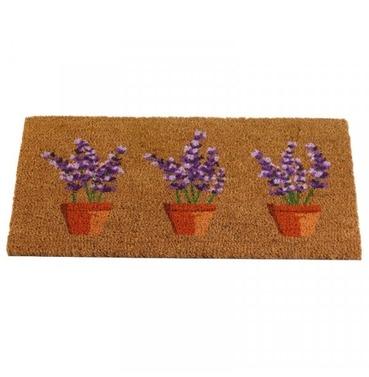 Lavender Pots Coir Doormat - 75 x 45cm