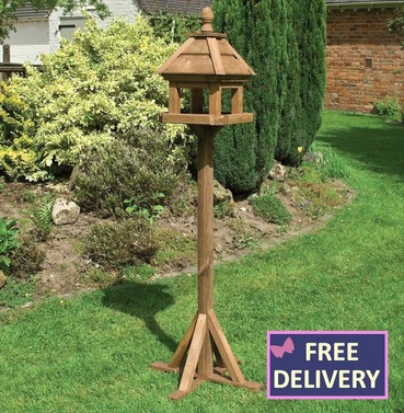 Lechlade Bird  Table - Wooden Bird Table and Stand