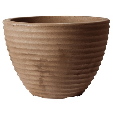 Low Honey Pot Planter 37cm CHOCOLATE - Lightweight