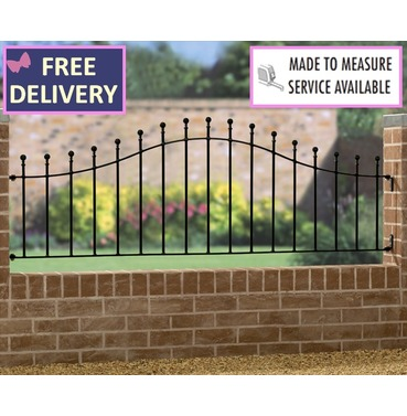 Manor Metal Arched Railing Panel - 6ft Wide