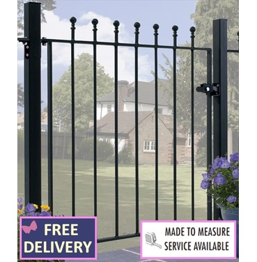 Manor Single Garden Gate 3ft High - Opening Size Options