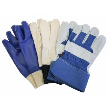 Town & Country Mens Gardening Gloves Bonus Triple Pack