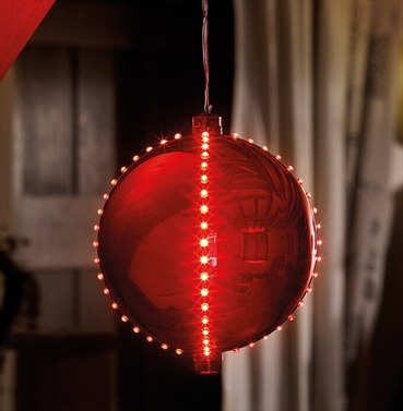 Meteor Shower LED Bauble Christmas Light - Ruby Red