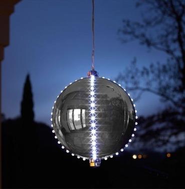 Meteor Shower LED Bauble Christmas Light - Silver
