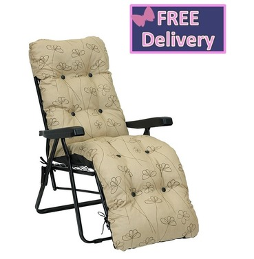 Reclining Multi Position Lounger Chairs - Nancy Cream