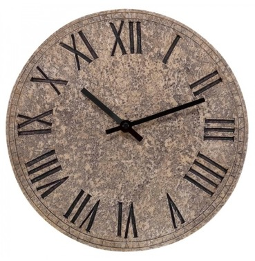 Outside Garden Rock Clock - Stone Effect