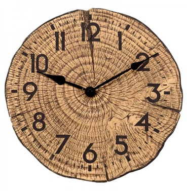 Tree Time Clock - Cut Log Effect Outdoor Clock