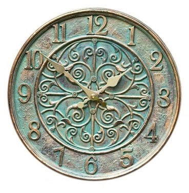 Verdant Clock - Outside Clock in a Verdigris Colour