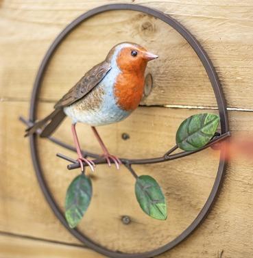 Perching Robin 3d Metal Wall Art - La Hacienda