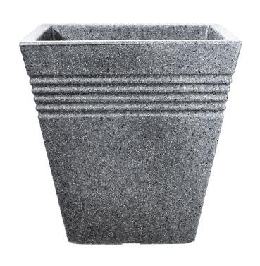 Piazza Square Patio Tub Planter Pot 34cm - Alpine Grey