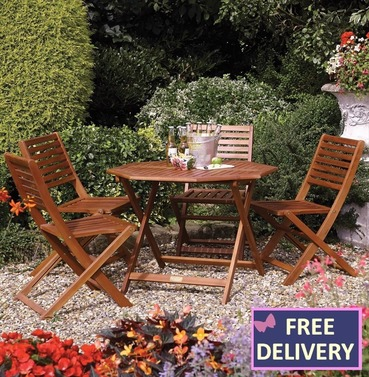 Plumley Wood Octagonal Four Seater Wooden Set