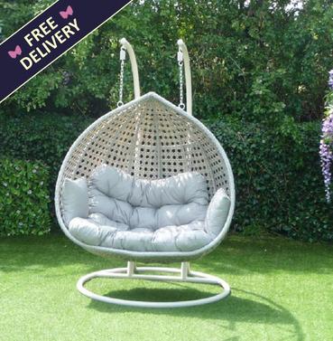 Portofino Rattan Swing Seat Hanging Chair - Double