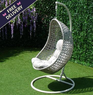 Portofino Rattan Swing Seat Hanging Chair - Single