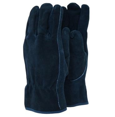 Premium Suede Gardening Gloves - Blue - Different Size Options