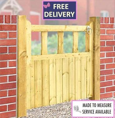 """Quorn Single Wooden Garden Gate 35.5"""" High"""