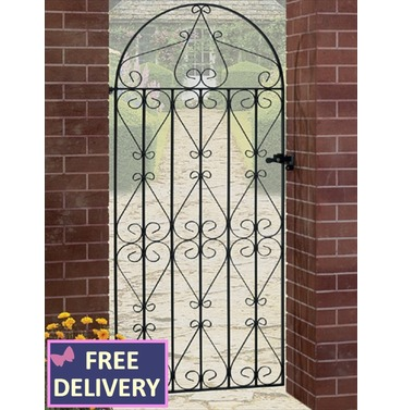 Regent Tall Bow Top Single Metal Garden Gate