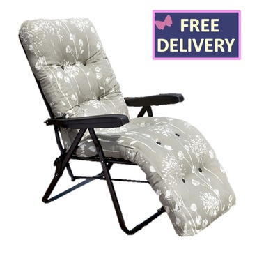 Reclining Multi Position Lounger Chairs - Renaissance Grey
