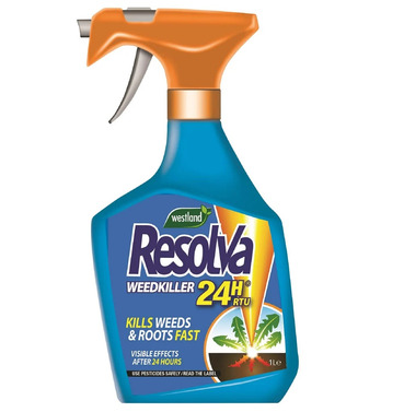 Resolva Weedkiller 24 hour 1lt Bottle - Kills Weeds and Roots Fast