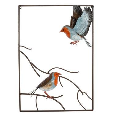 Tree Top Robin 3d Metal Wall Art - La Hacienda