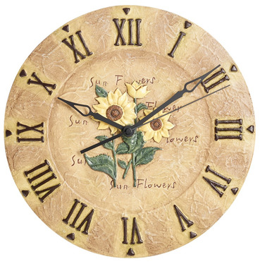 Sunflower Indoor or Outdoor Garden Clock