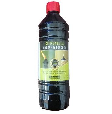 Lamp & Garden Citronella Torch Oil 1ltr - Barrettine  - Multi Buy Offer