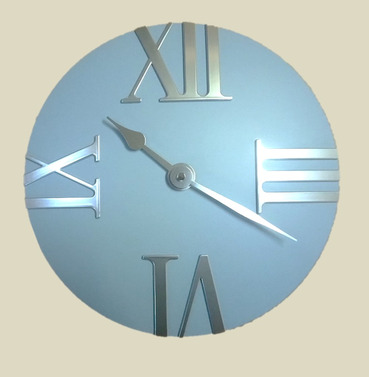 Baby Blue Tempus Outdoor Garden Clock - 30.5cm