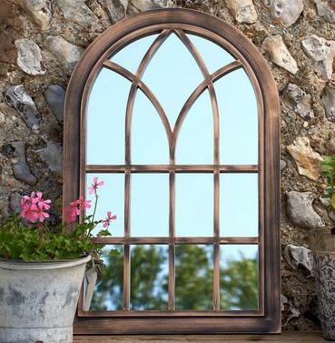 Toscana Outdoor Garden Mirror - Brushed Copper
