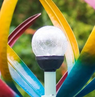 Tresco Wind Sculpture Spinner Replacement Solar Light Crackled Globe