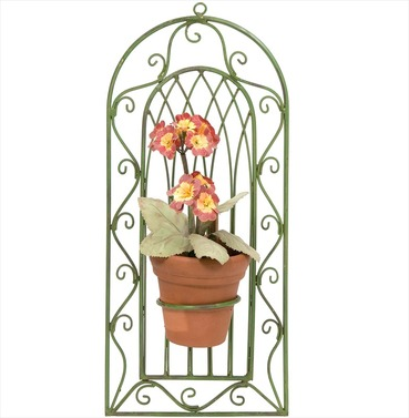 Wimbledon Single Wall Pot Holder - Distressed Green